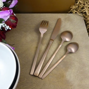 Luxury cutlery copper Rose Metallics